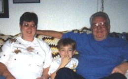 me and grandma and grandpa