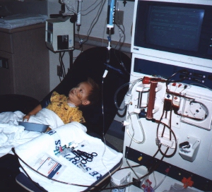 [picture of Bryan on hemodialysis]